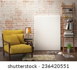 mock up poster with vintage... | Shutterstock . vector #236420551