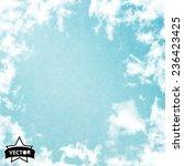 vector sky. blue sky with cloud ... | Shutterstock .eps vector #236423425