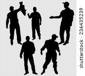 silhouettes of men | Shutterstock .eps vector #236435239