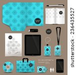 stationery set design geometric ... | Shutterstock .eps vector #236435527