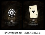 casino background vintage style ... | Shutterstock .eps vector #236435611