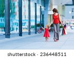 Woman During The Shopping With...