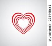 vector heart shape symbol... | Shutterstock .eps vector #236448661