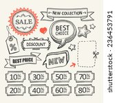 sale tags. sale banners set.... | Shutterstock .eps vector #236453791