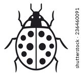 vector illustration of a ladybug | Shutterstock .eps vector #236460091