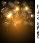 salute celebration fireworks... | Shutterstock .eps vector #236463799