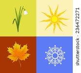 colorful four seasons symbols... | Shutterstock .eps vector #236472271
