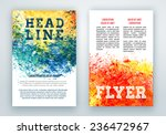 posters or report brochure with ... | Shutterstock .eps vector #236472967