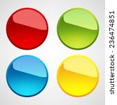 web buttons set | Shutterstock .eps vector #236474851