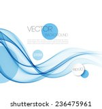 vector abstract smoky waves ... | Shutterstock .eps vector #236475961