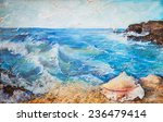 Oil Painting  Seascape  Waves ...
