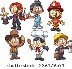kids using costumes from... | Shutterstock .eps vector #236479591