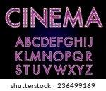 vector cinema font. | Shutterstock .eps vector #236499169