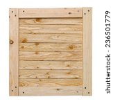 wood crate lid with copy space... | Shutterstock . vector #236501779
