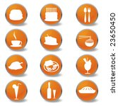 food and beverages web icons | Shutterstock .eps vector #23650450