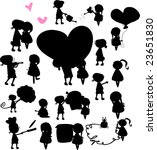 silhouette of boys and girls | Shutterstock .eps vector #23651830