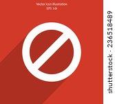vector not allowed sign web...   Shutterstock .eps vector #236518489