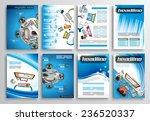 set of flyer design  web...   Shutterstock .eps vector #236520337