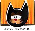Funny cat. Vector illustration. - stock vector