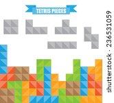 tetris pieces. | Shutterstock .eps vector #236531059