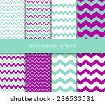 set of vector zigzag chevron... | Shutterstock .eps vector #236533531