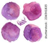 Purple Watercolor Painted...
