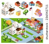 town hall and the environment.... | Shutterstock .eps vector #236542711