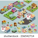 small city environment.... | Shutterstock .eps vector #236542714