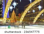 Stock photo toronto christmas tree and decorations at city hall during the holiday season beautiful lights of 236547775