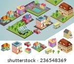 sunny isometric environment.... | Shutterstock .eps vector #236548369