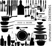 food and drink kitchen utensils ... | Shutterstock .eps vector #236550601