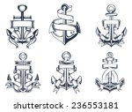marine or nautical themed ships ... | Shutterstock .eps vector #236553181