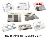 newspaper icons with headers... | Shutterstock .eps vector #236553199