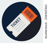 ticket icon | Shutterstock . vector #236565361