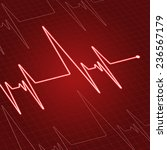 close up heartbeat or... | Shutterstock .eps vector #236567179