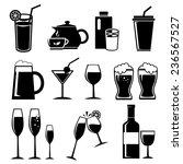 vector  drinks   beverages... | Shutterstock .eps vector #236567527