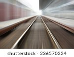 railroad blurred with zoom | Shutterstock . vector #236570224