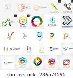set of branding company logo... | Shutterstock .eps vector #236574595