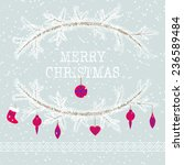 merry christmas and happy new... | Shutterstock .eps vector #236589484