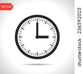 clock icon vector object...