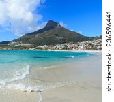 beautiful camps bay beach and... | Shutterstock . vector #236596441