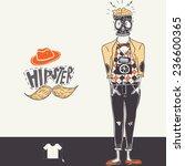 hipster background in retro... | Shutterstock .eps vector #236600365