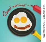 good morning   smiling face...   Shutterstock .eps vector #236601121