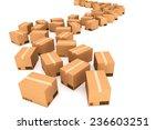 cardboard boxes. cargo ... | Shutterstock . vector #236603251
