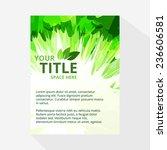 vector eco friendly brochure... | Shutterstock .eps vector #236606581