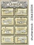 set of vintage clothing badges... | Shutterstock .eps vector #236610034