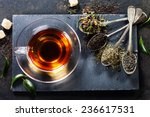 tea composition with old spoon... | Shutterstock . vector #236617531