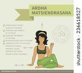 yoga infographics. ardha...   Shutterstock .eps vector #236618527