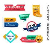 discount premium product... | Shutterstock . vector #236623747
