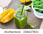 mango with banana and spinach... | Shutterstock . vector #236627821